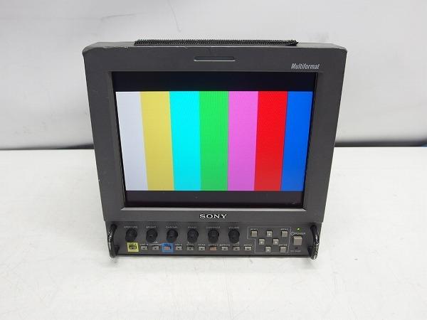SONY LMD-9050 8.4型ビデオモニタ HD-SDI/コンポーネント/コンポジット 動作品 本体割れあり *279415_画像1
