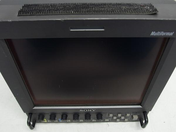 SONY LMD-9050 8.4型ビデオモニタ HD-SDI/コンポーネント/コンポジット 動作品 本体割れあり *279415_画像2