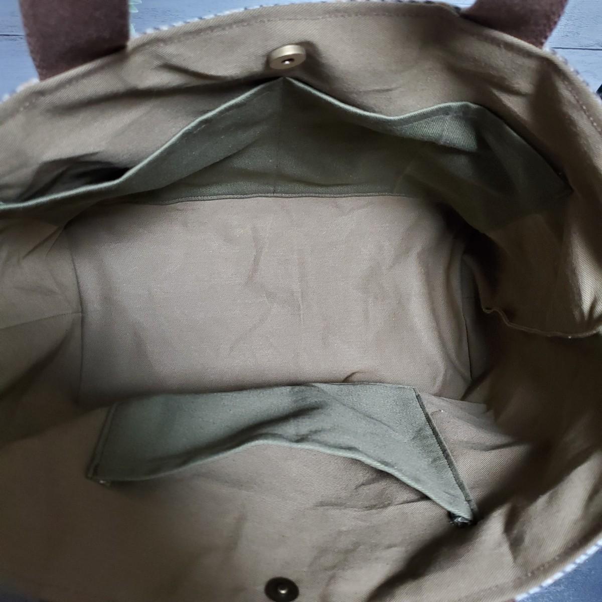 トートバッグ『ウール ツイード×茶色コーデュロイ』