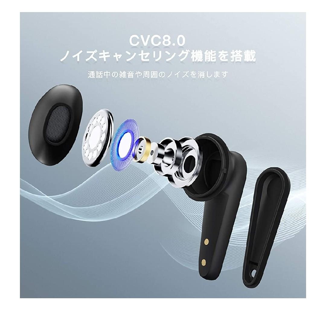Bluetoothイヤホン ワイヤレス 自動ペアリング 左右分離型 IPX6防水