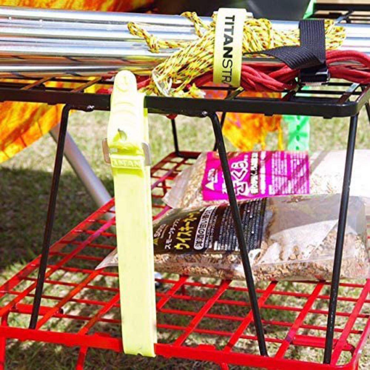 CAMPING MOONフィールドラック赤 ラック2天板1収納ケース1点セット