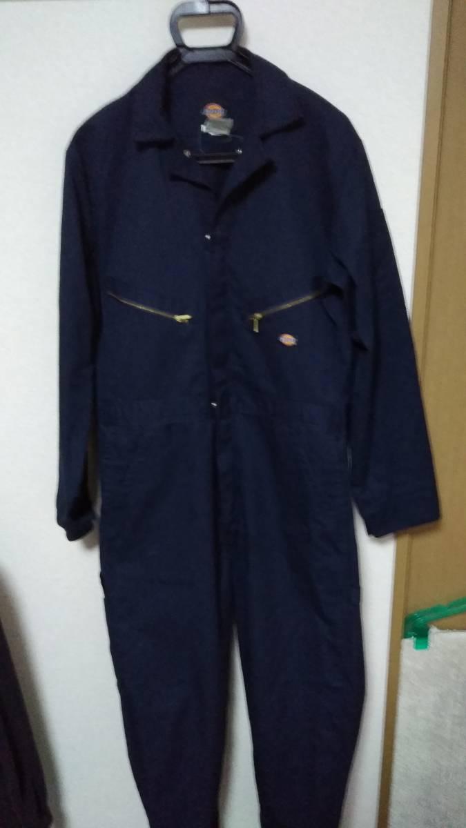 ☆Dickies(ディッキーズ)男性用長袖ツナギ 48799 サイズM-RG ネイビー☆_画像1
