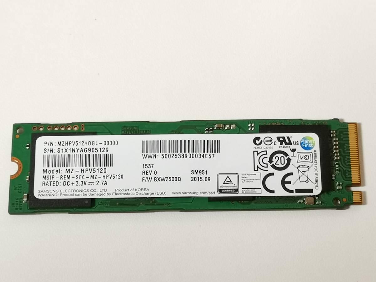 Samsung M.2 AHCI SSD 512GB MZ-HPV5120 MZHPV512HDGL 動作確認済 -15-