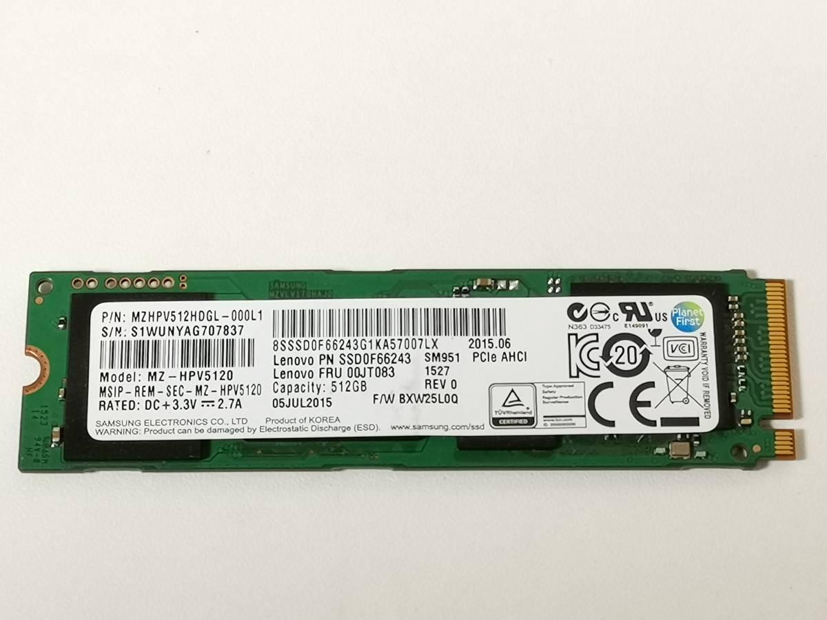 Samsung M.2 AHCI SSD 512GB MZ-HPV5120 MZHPV512HDGL 動作確認済 -18-
