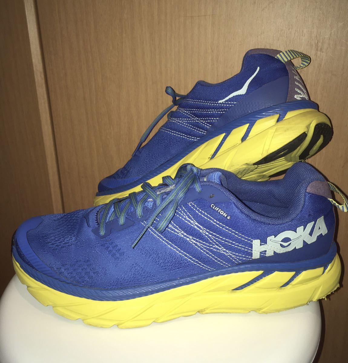 HOKA ONEONE ホカオネオネ クリフトン6 ブルー 27.5センチ ランニングシューズ_画像1