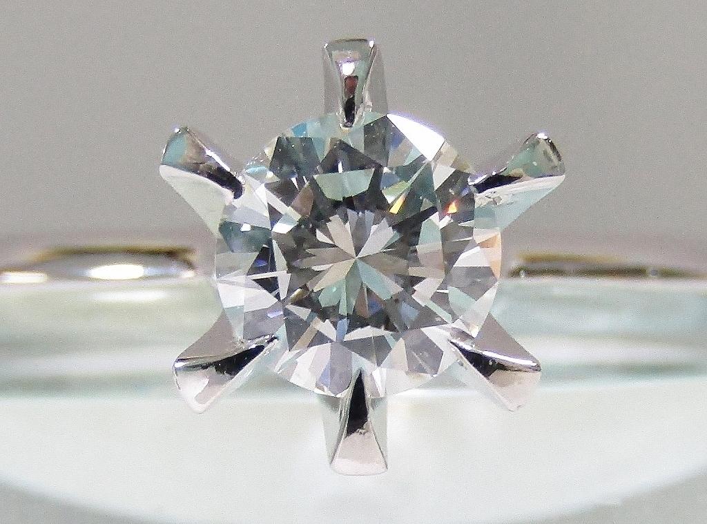 新品 D0.66ct VS2 I Good Pt900 ダイヤモンド リング 中央宝石研究所ソーティング付属