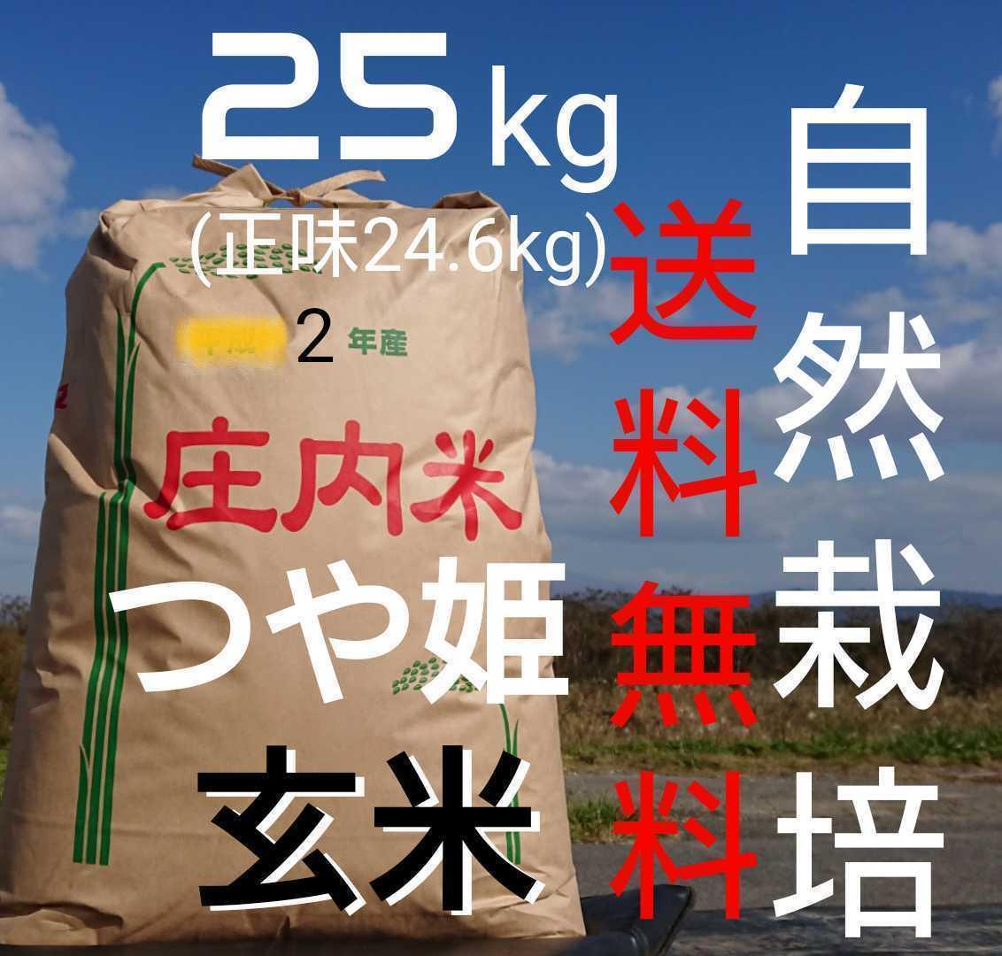 自然栽培米 米の旨みたっぷり 氷温熟成米 つや姫 令和2年産 新米 山形県産 庄内米無施肥 無農薬 玄米 25kg ( 正味24.6kg )_40日間の氷温熟成完了で販売開始です