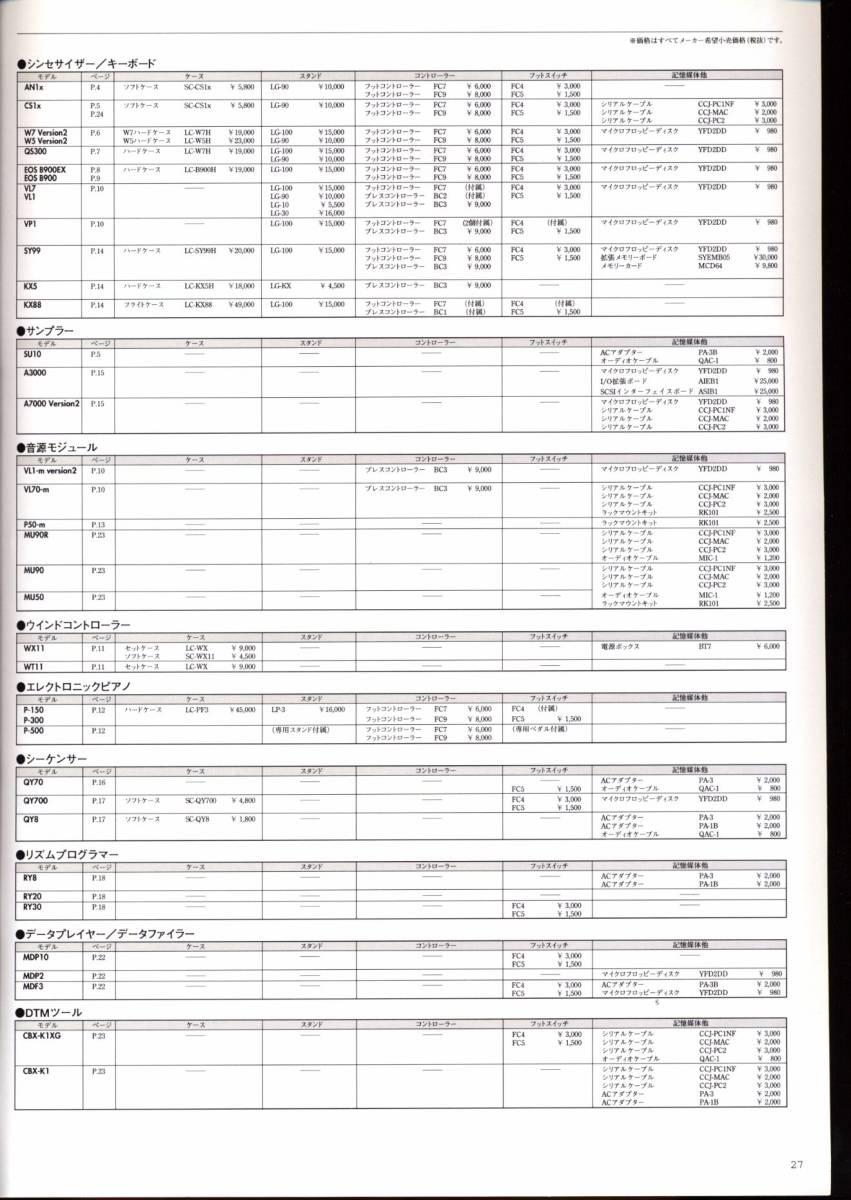 カタログのみ YAMAHA ヤマハ デジタル楽器 総合カタログ 1997年 AN1x QS300 浅倉大介 EOS B900EX 小室哲哉 VL70-m A3000 QY70 QY700 B1D 他_画像9