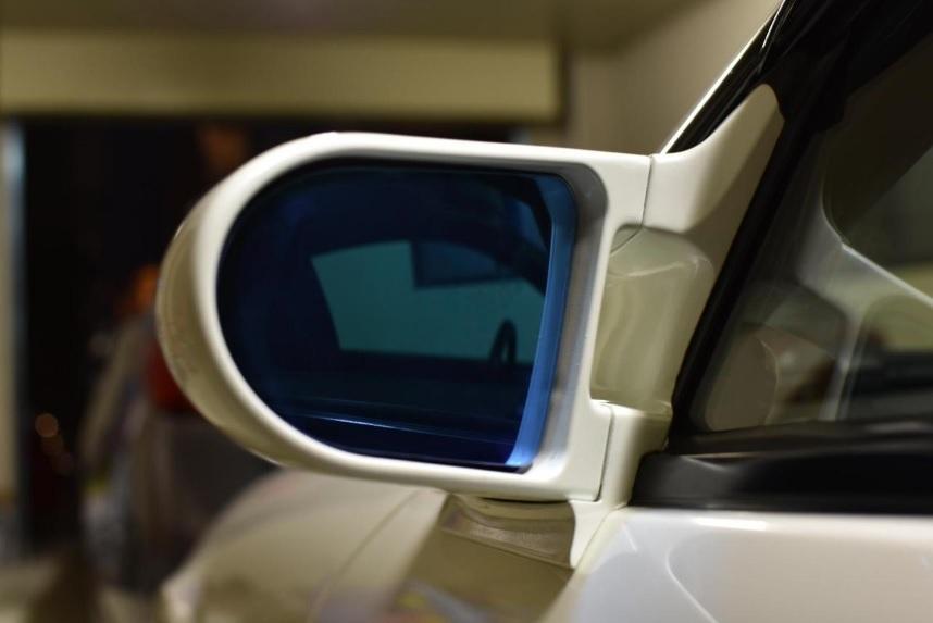 ガナドールエアロミラー用次世代ブルーワイドミラー/スイフトスポーツ ZC31S/32S 湾曲率600R/日本国内生産/数量限定(スーパーミラー)_S15シルビア取付例(ユーザー提供画像)