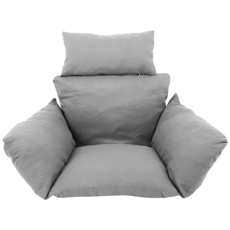 ハンモック椅子スイング庭屋外ソフトシートクッションシート 220 キロ寮の寝室の吊椅子バック枕(Black)_画像5