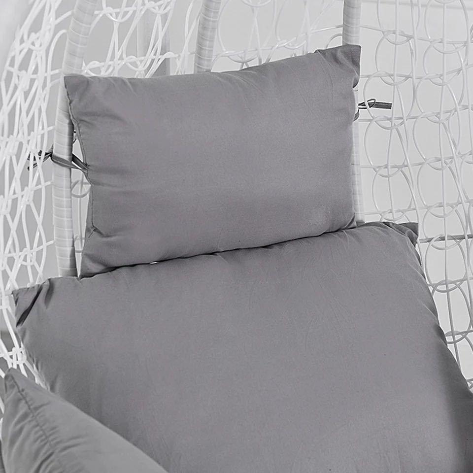 ハンモック椅子スイング庭屋外ソフトシートクッションシート 220 キロ寮の寝室の吊椅子バック枕(Black)_画像1
