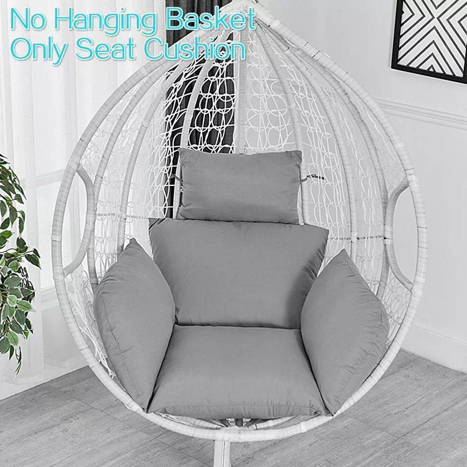 ハンモック椅子スイング庭屋外ソフトシートクッションシート 220 キロ寮の寝室の吊椅子バック枕(Black)_画像6