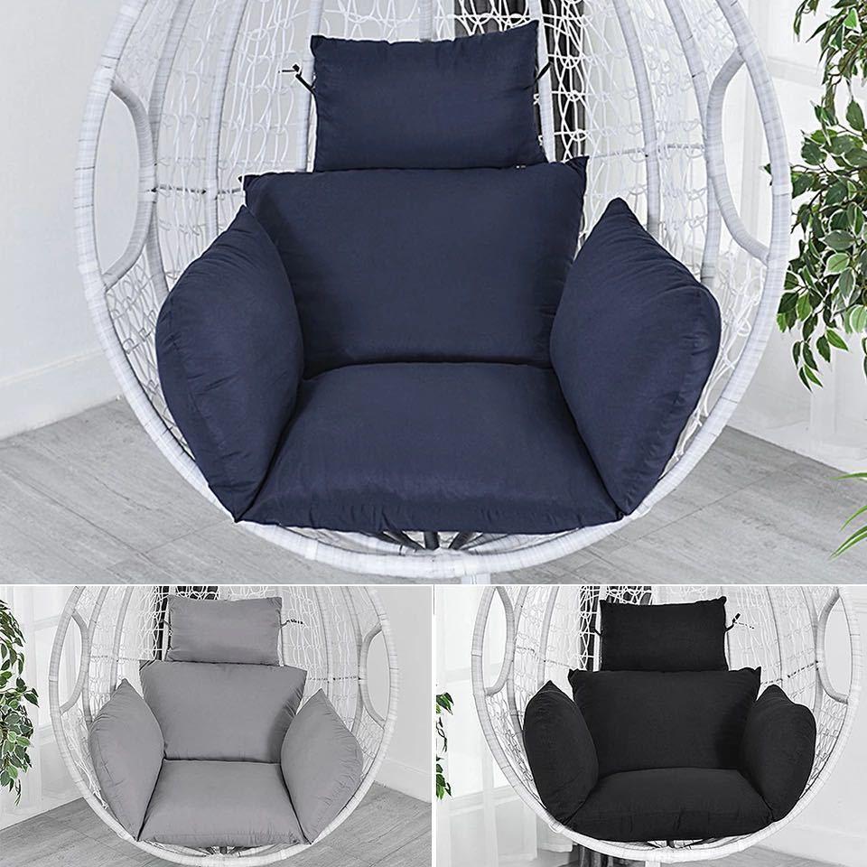 ハンモック椅子スイング庭屋外ソフトシートクッションシート 220 キロ寮の寝室の吊椅子バック枕(Black)_画像3