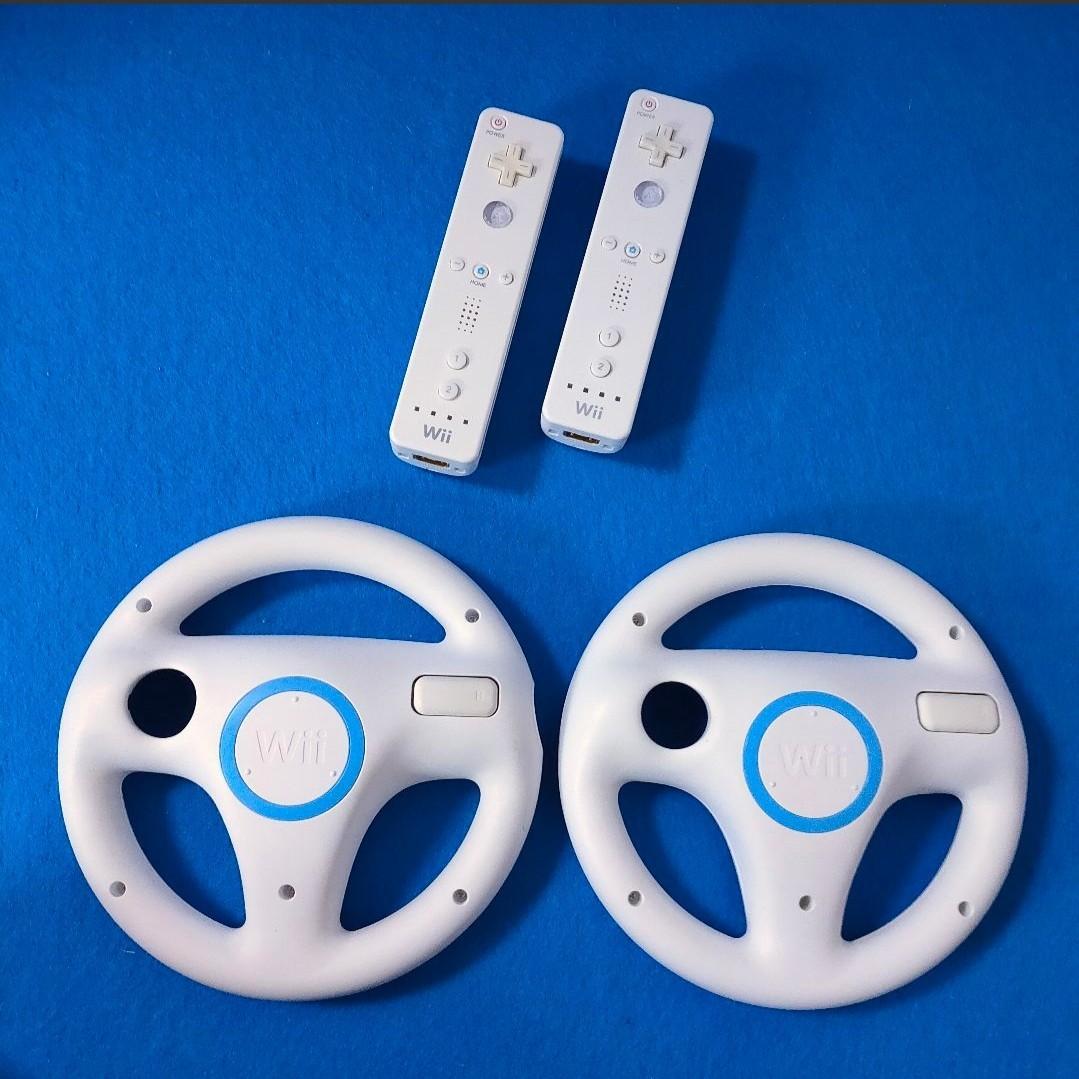 マリオカートWii ハンドル+Wiiリモコン 2個 セット