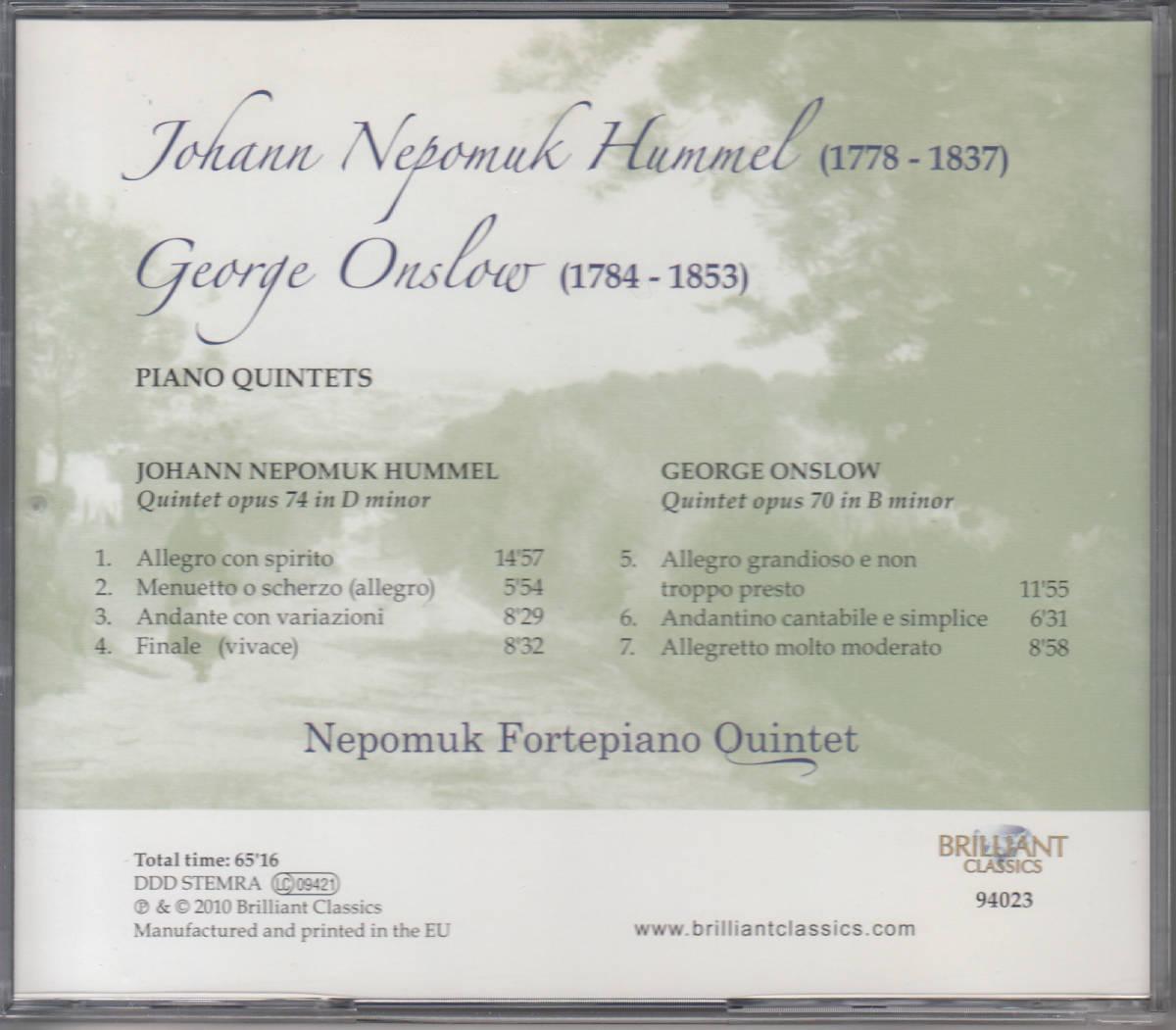 ◆送料無料◆フンメル、ジョルジュ・オンスロー:ピアノ五重奏曲~ネポムク・フォルテピアノ五重奏団 Import C9984_画像2