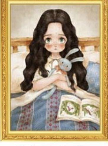 クロスステッチ★刺繍キット★森ガール★シルク糸★新柄★ おやすみ