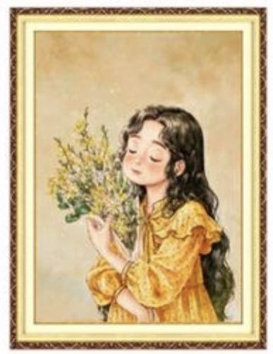 クロスステッチ★刺繍キット★森ガール★シルク糸★新柄★ 花束
