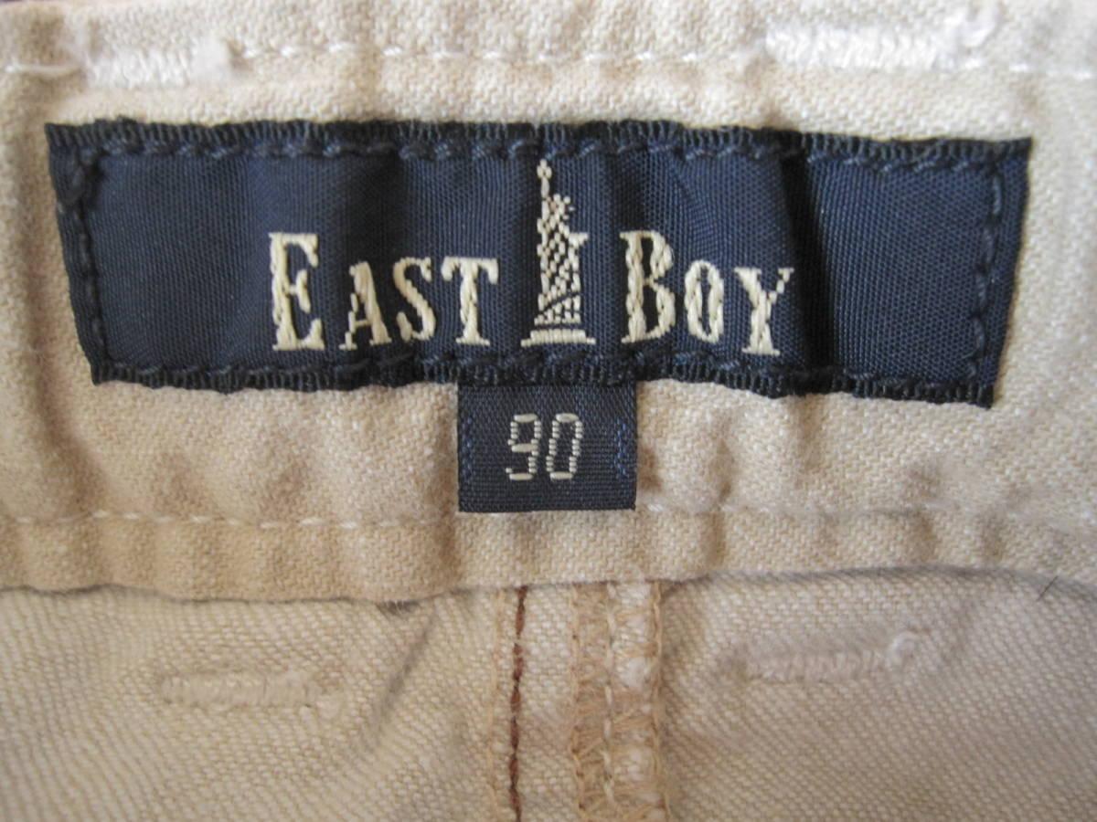49 美品 90 EASTBOY イーストボーイ ハートポケット ミニスカート ベージュ_画像6