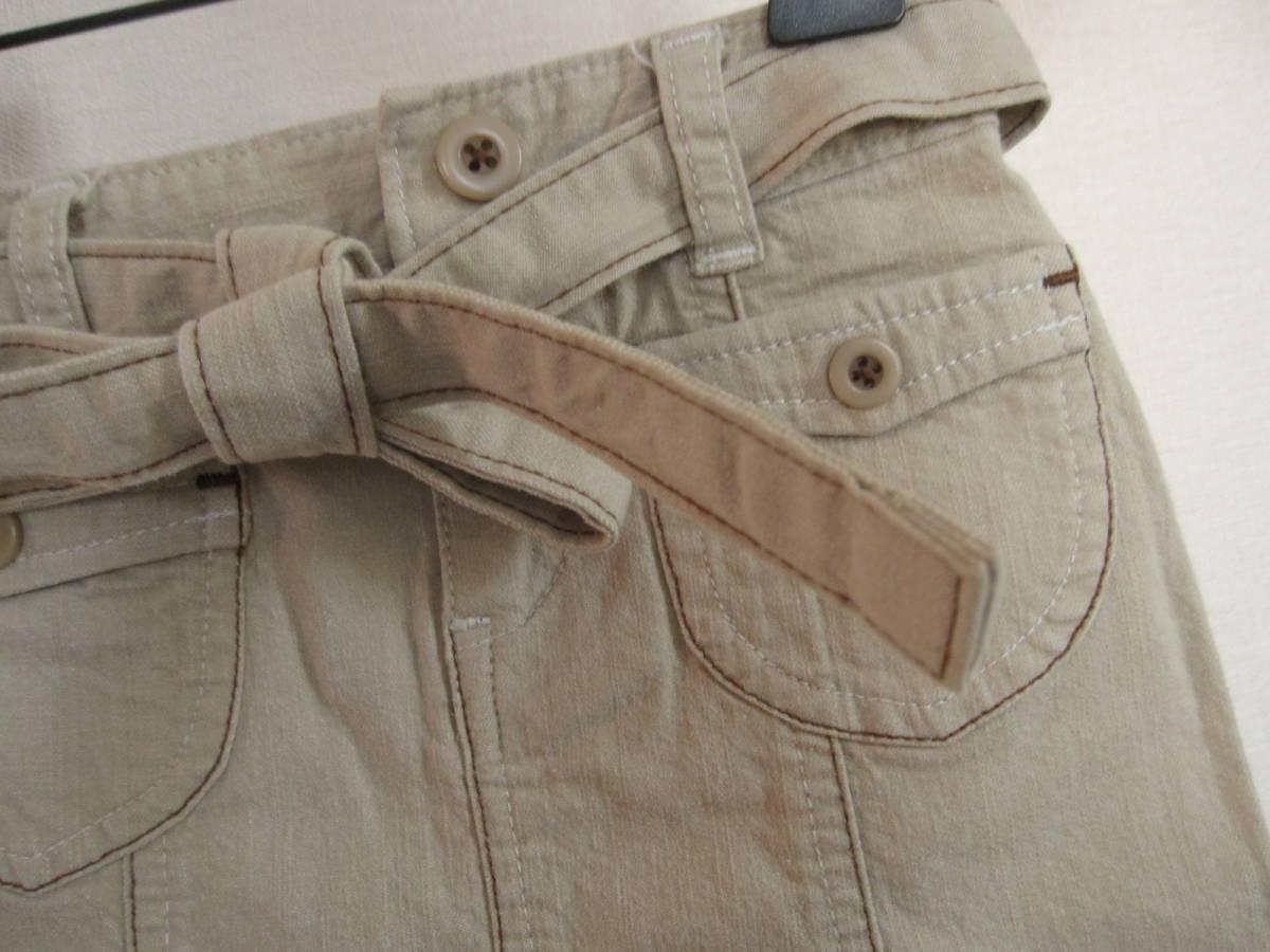 49 美品 90 EASTBOY イーストボーイ ハートポケット ミニスカート ベージュ_画像3