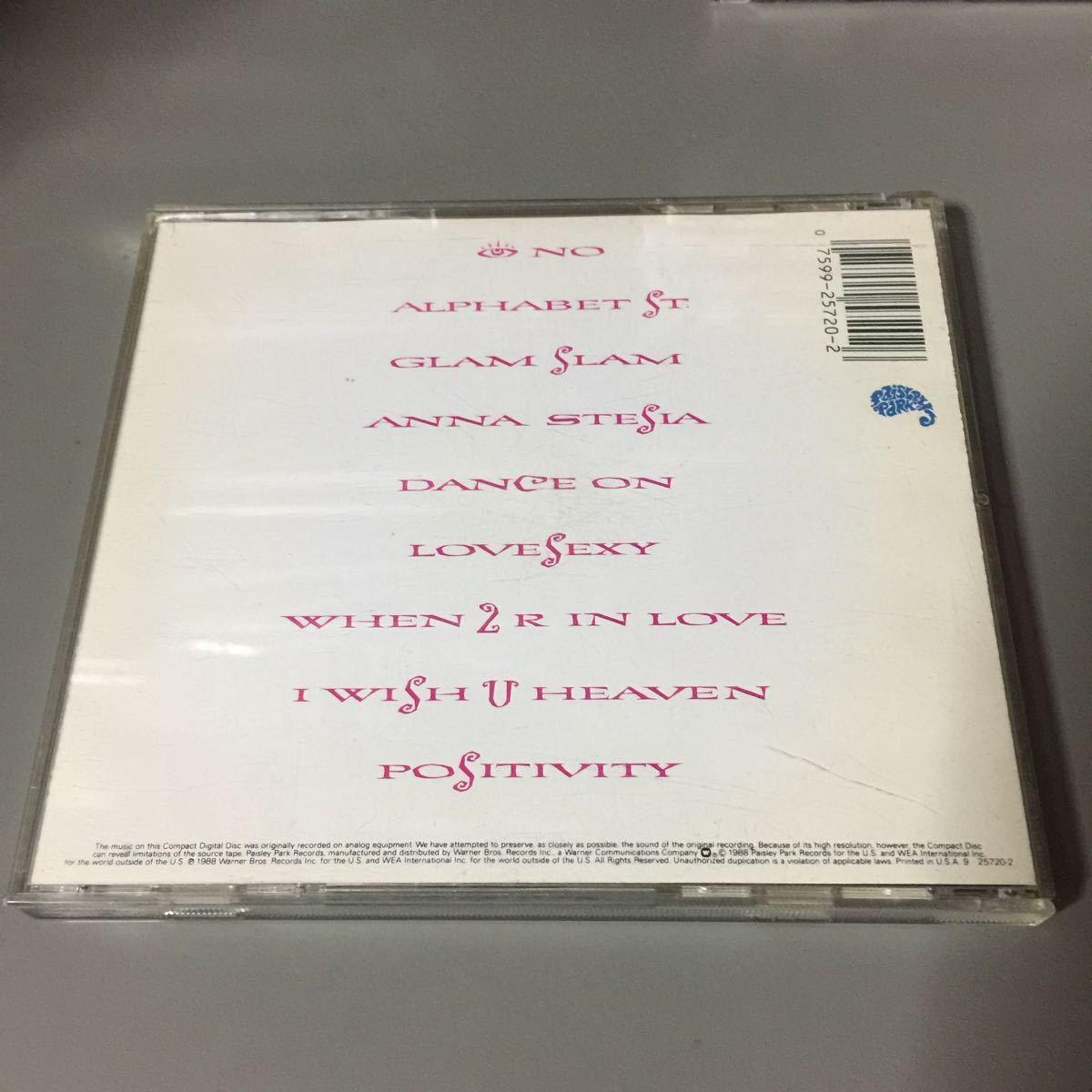 プリンス LOVESEXY USA盤CD