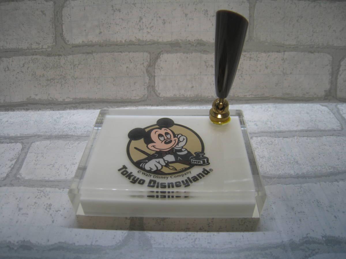 未開封 東京ディズニーランド 初期頃 ペンスタンド ペン立て 置物 ミッキーマウス TDL 箱付_画像2