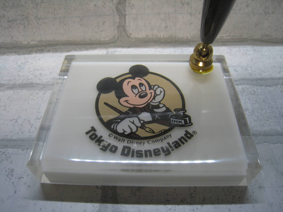 未開封 東京ディズニーランド 初期頃 ペンスタンド ペン立て 置物 ミッキーマウス TDL 箱付_画像3