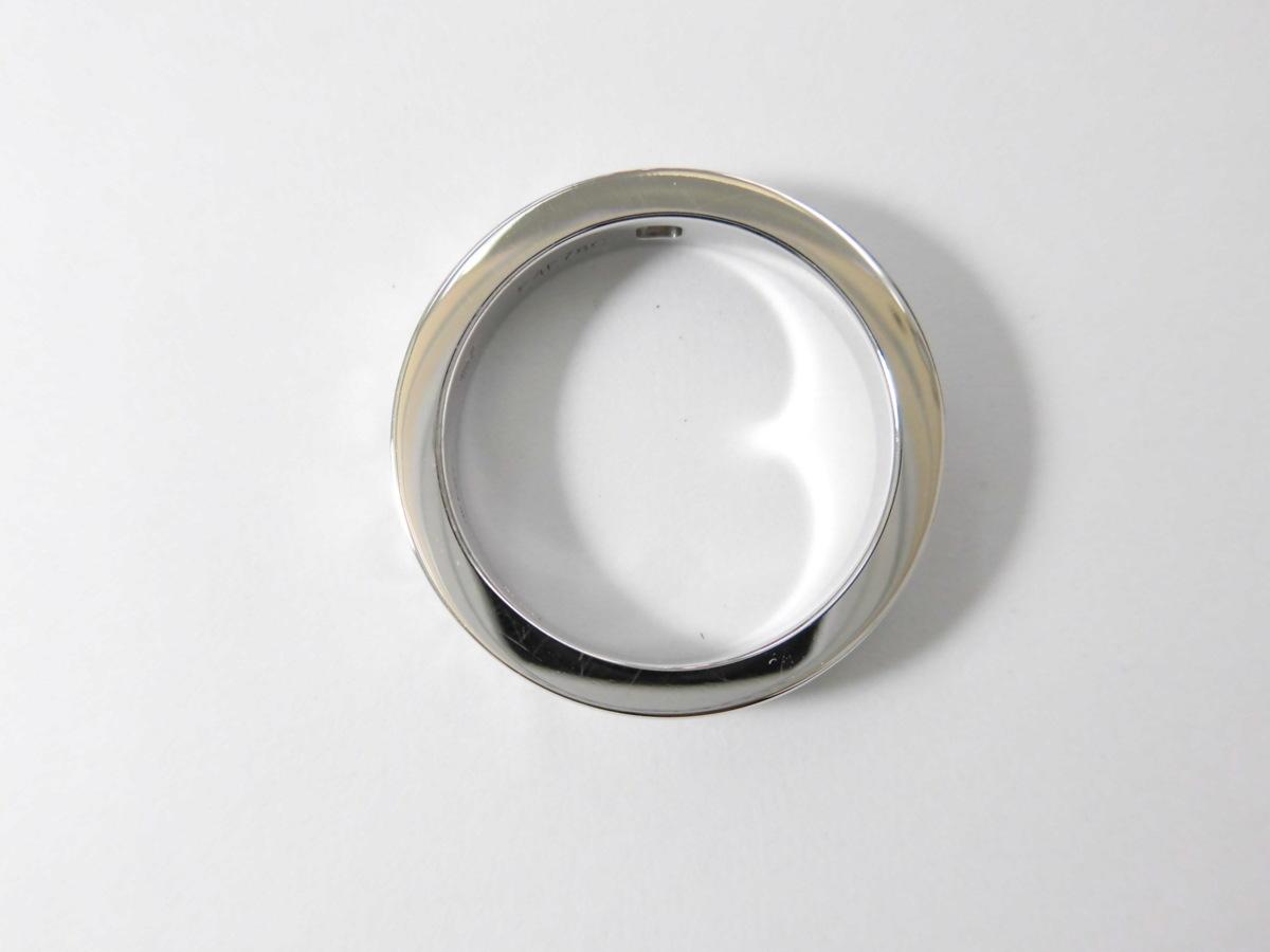 ●美品 ブルガリ ブルガリ ダブルロゴ K18WG ホワイトゴールド 1Pダイヤ リング Au750刻印 6.2g 9号 BVLGARI 新品磨き_画像6