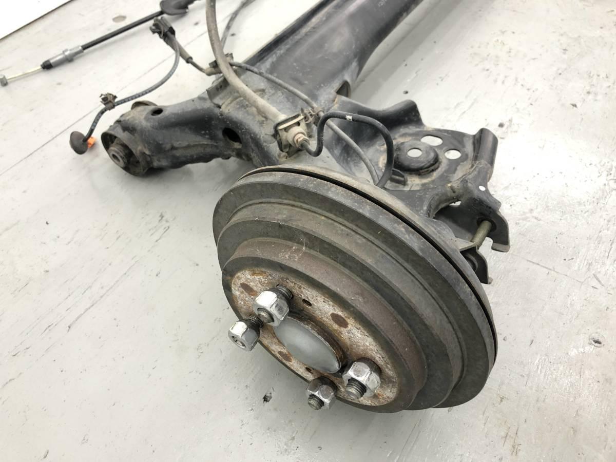 _b43746 ホンダ ライフ C CBA-JB5 リア リヤ アクスルビーム ドラムブレーキ サイドブレーキワイヤー ホース ABS_画像2