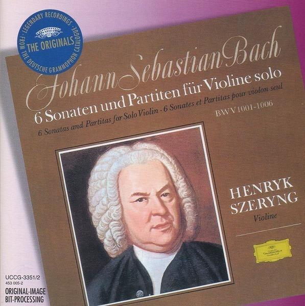 J.S.バッハ:無伴奏ヴァイオリンのためのソナタとパルティータ(全曲) / ヘンリク・シェリング(vn) / 2CD / DG_画像1