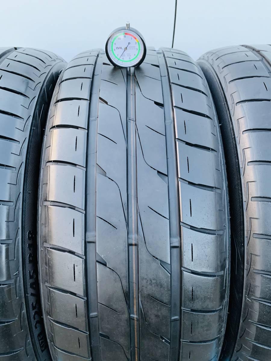 中古タイヤ 4本 BRIDGESTONE 225/45/18 2015年製 タイヤの状態良い_画像9