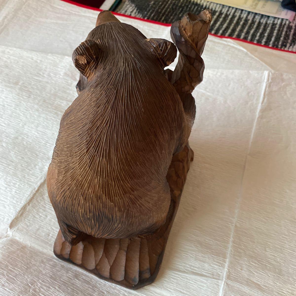 北海道アイヌ☆親子熊の木彫り置物_画像8