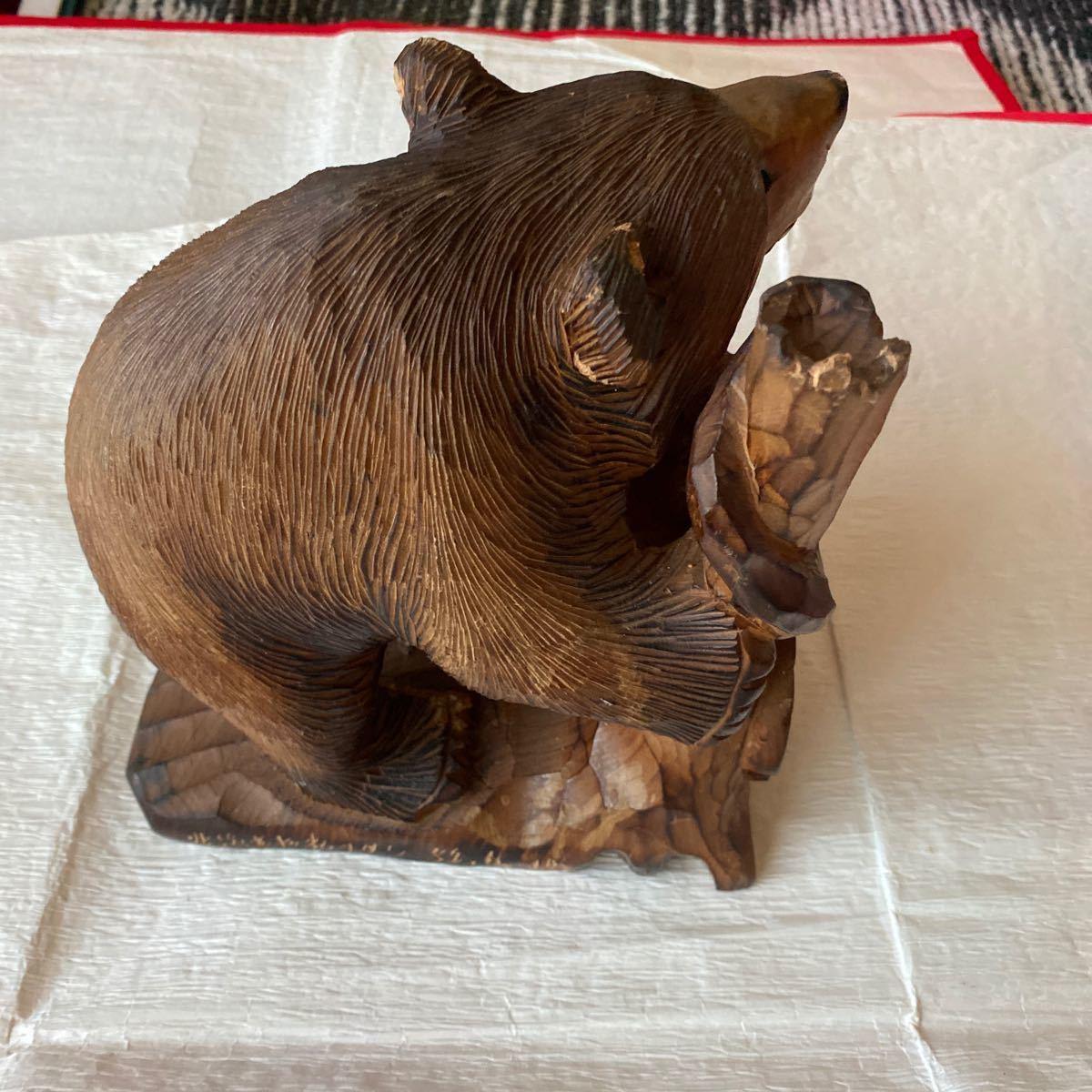 北海道アイヌ☆親子熊の木彫り置物_画像10