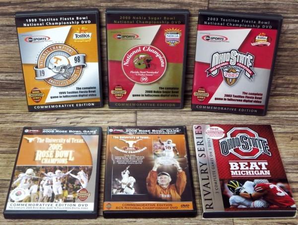 ◎アメフト アメリカンフットボール 関連 北米正規版DVD 6点セット ROSE BOWL/Tostitos Fiesta/Nokia Sugar/OHIO STATE◎