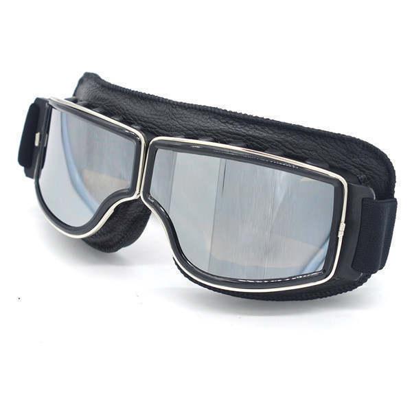 安全メガネ 全3色! コロナウイルス対策 花粉症対策 スポーツメガネ オートバイ 透明レンズ 防塵 防風 傷防止 レザー 折り畳み式 D5889_画像1