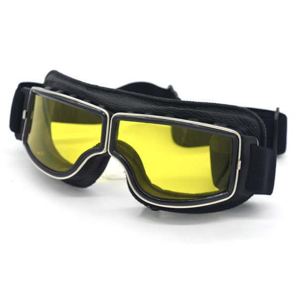 安全メガネ 全3色! コロナウイルス対策 花粉症対策 スポーツメガネ オートバイ 透明レンズ 防塵 防風 傷防止 レザー 折り畳み式 D5889_画像4
