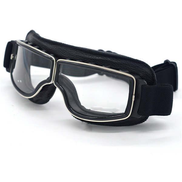 安全メガネ 全3色! コロナウイルス対策 花粉症対策 スポーツメガネ オートバイ 透明レンズ 防塵 防風 傷防止 レザー 折り畳み式 D5889_画像6