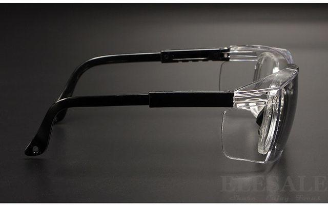 安全ゴーグル 無料ケース・メガネ拭き付属! コロナウイルス対策 花粉症対策 防風 防塵 透明 光学レンズフレーム 調節可能 作業用 D5331_画像3