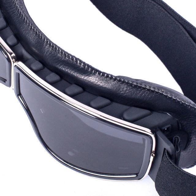 安全メガネ 全3色! コロナウイルス対策 花粉症対策 スポーツメガネ オートバイ 透明レンズ 防塵 防風 傷防止 レザー 折り畳み式 D5889_画像2