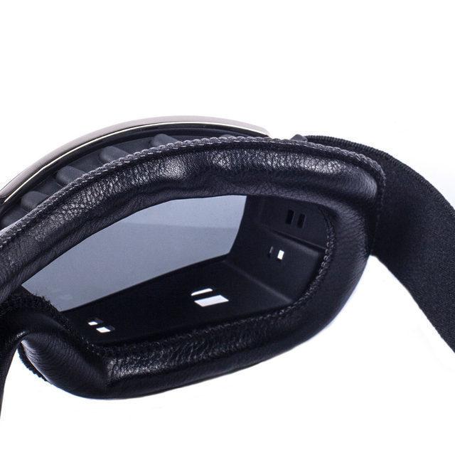 安全メガネ 全3色! コロナウイルス対策 花粉症対策 スポーツメガネ オートバイ 透明レンズ 防塵 防風 傷防止 レザー 折り畳み式 D5889_画像3