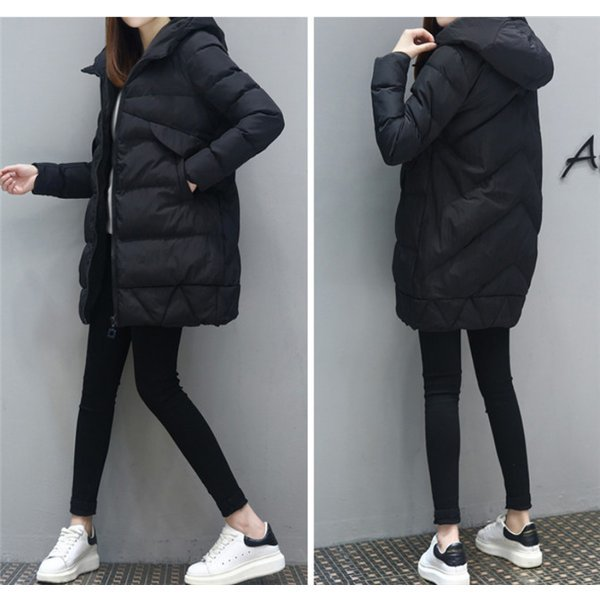 中綿ジャケット レディース ブルゾン 中綿コート ダウンジャケット アウター ロングコート 冬 防寒 ダウンコート フード付き :