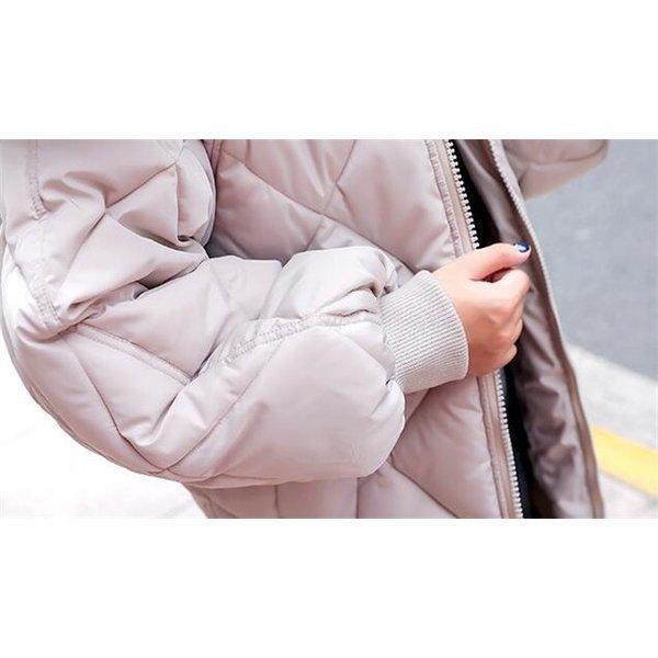 中綿ジャケット レディース ブルゾン 中綿コート ダウンジャケット アウター ロングコート 冬 防寒 ダウンコート ファー フード付き
