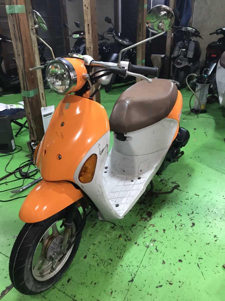 「可愛いレッツ4オレンジ!タイヤ前後新品オイル交換済み! SUZUKI 原付 50 スクーター」の画像3