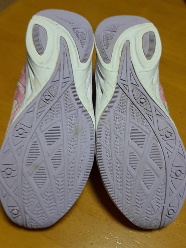 中古 レモンパイ 瞬足 21.5cm EE アキレス 運動靴 小学生 女の子_画像3