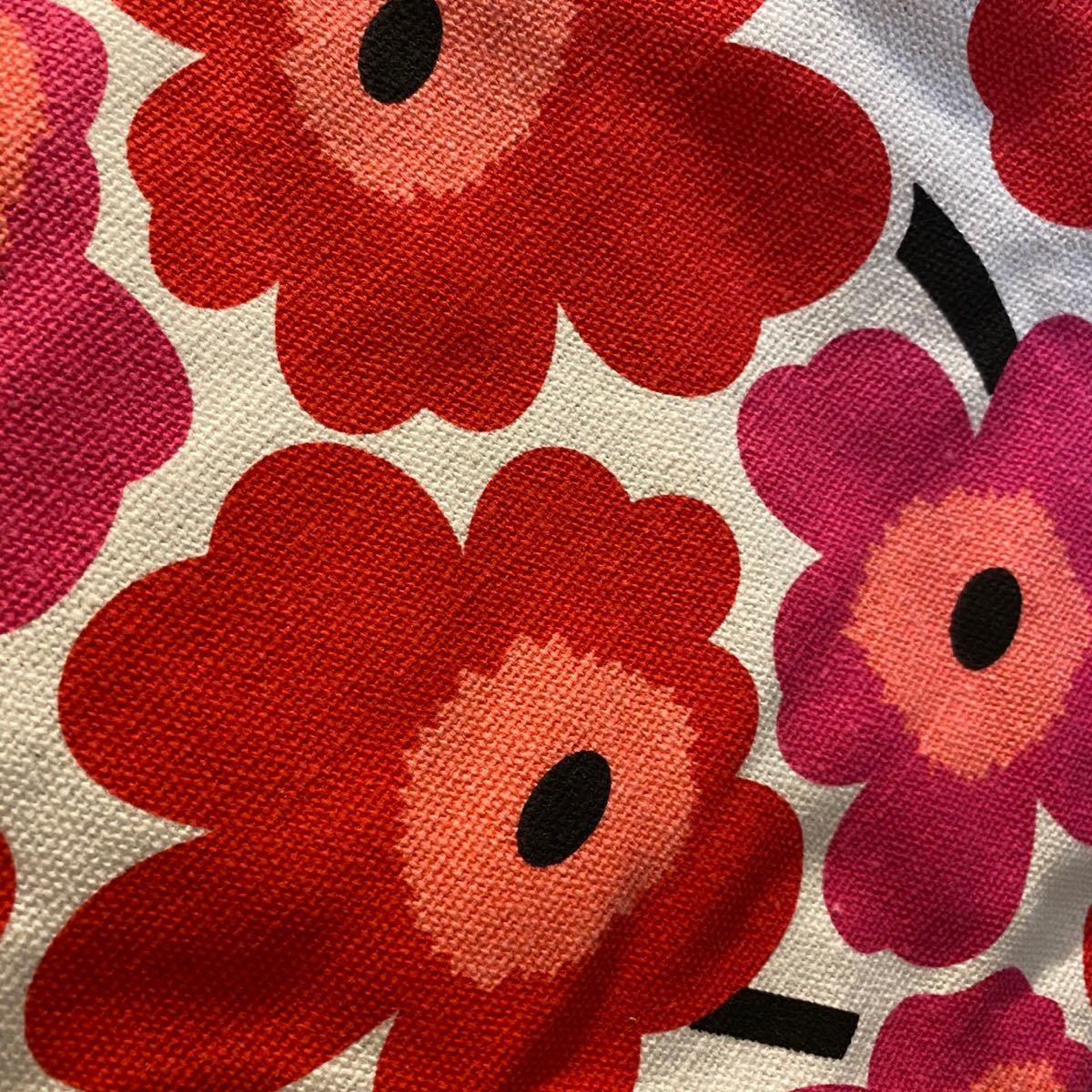 マリメッコ ミニトート 花柄 レッド 人気 ランチバック エコバック レディース