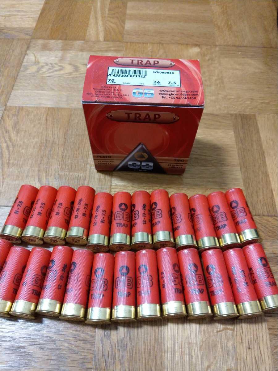 【送料無料】MAXAM GB ダミーカート ショットガン M870 M3 M4 M1100 KSG SGR AA12 空薬莢 12番 25本 箱付 _画像1