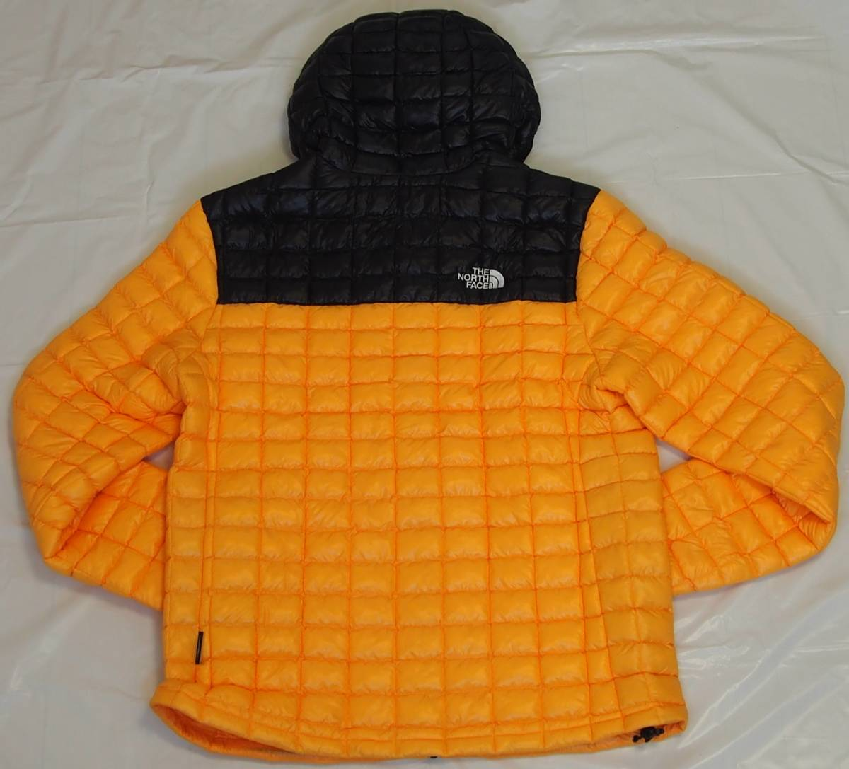 【USA購入、未使用タグ付】ノースフェイス メンズ Thermoball Eco ジャケット フード付 L イエロー The North Face Thermoball Eco Jacket_画像3