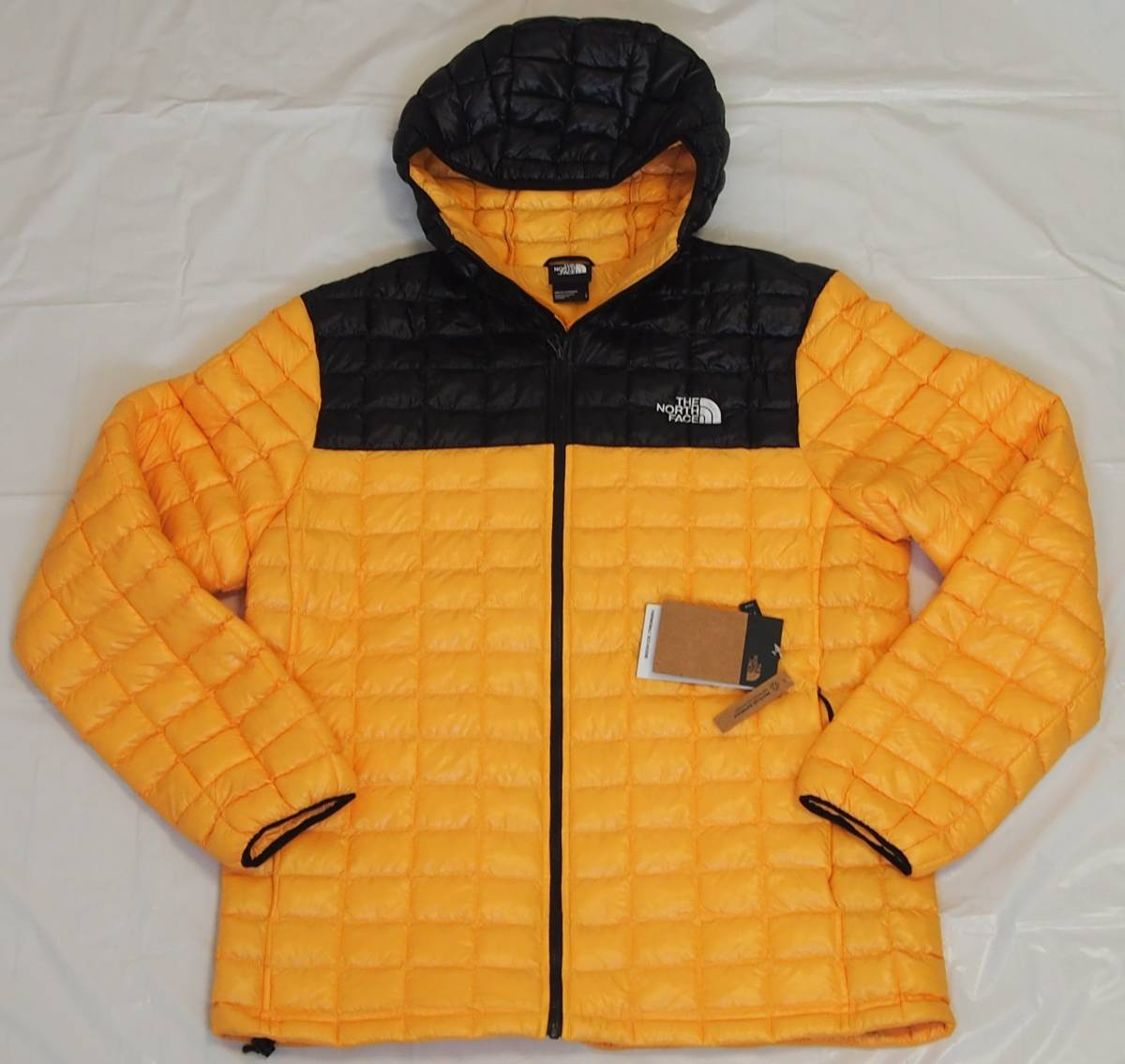 【USA購入、未使用タグ付】ノースフェイス メンズ Thermoball Eco ジャケット フード付 L イエロー The North Face Thermoball Eco Jacket_画像1