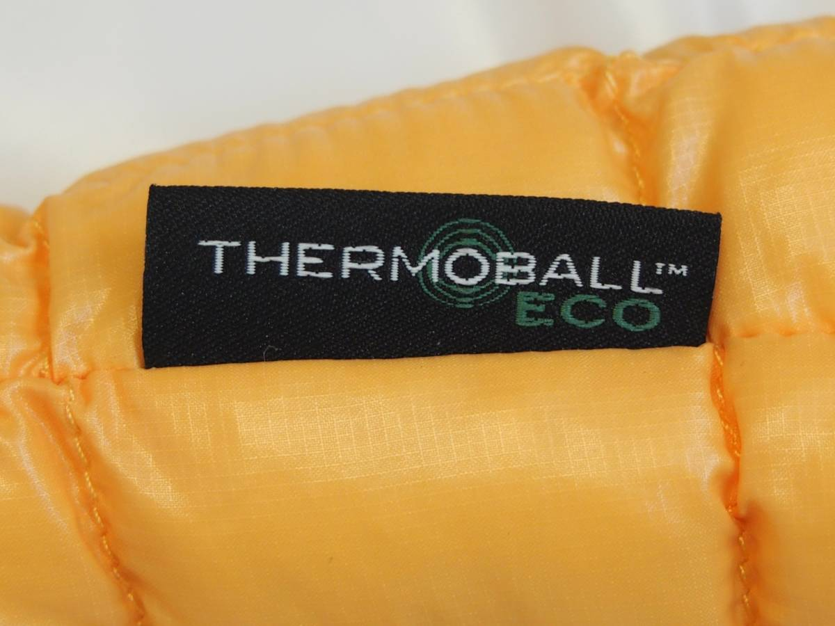 【USA購入、未使用タグ付】ノースフェイス メンズ Thermoball Eco ジャケット フード付 L イエロー The North Face Thermoball Eco Jacket_画像6