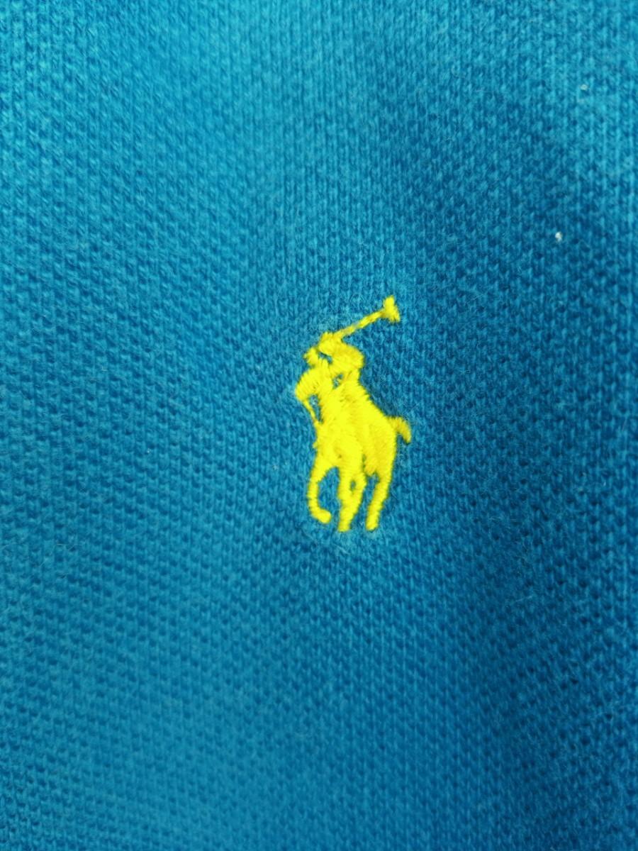 ポロ by ラルフローレン 長袖ポロシャツ ブルー