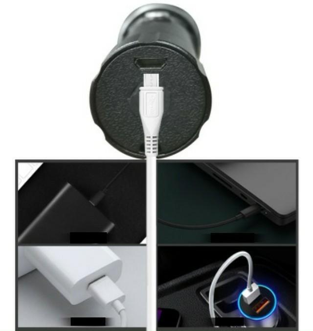 新品 USB ケーブル付き懐中電灯 led USB充電式 強力 アウトドア 防水